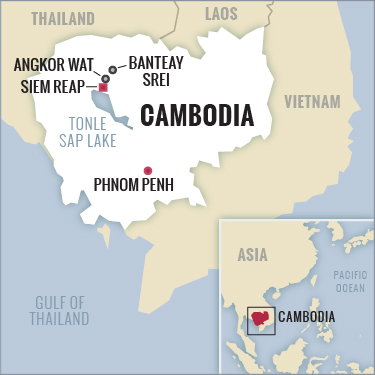 Angkor Wat Tour map Cambodia