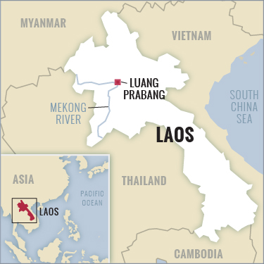 Laos tour map with Boundless Journeys
