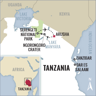 Tanzania Migration Safari Map