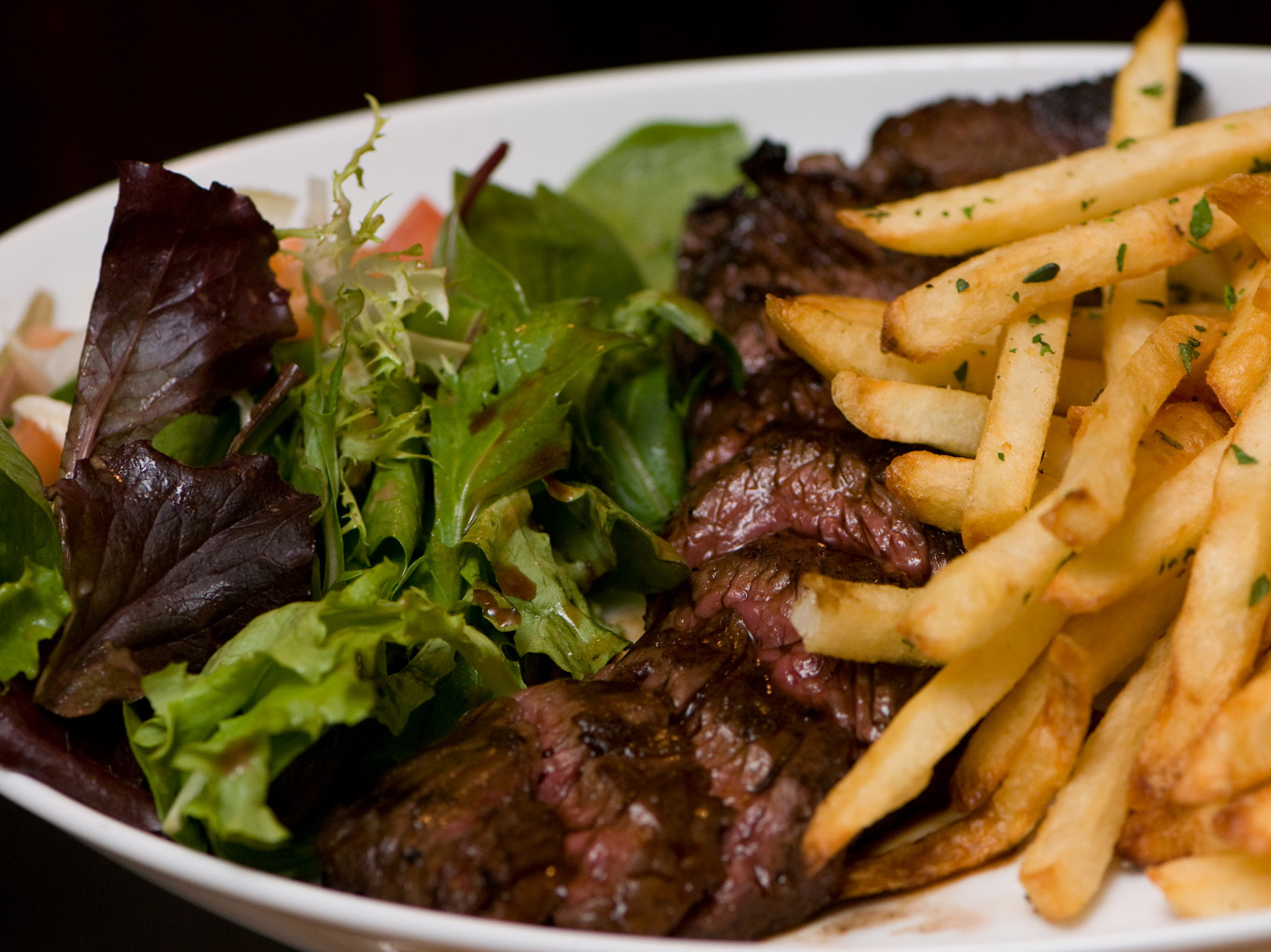 Steak Frites, hanger steak