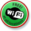 Free WiFi at all locations