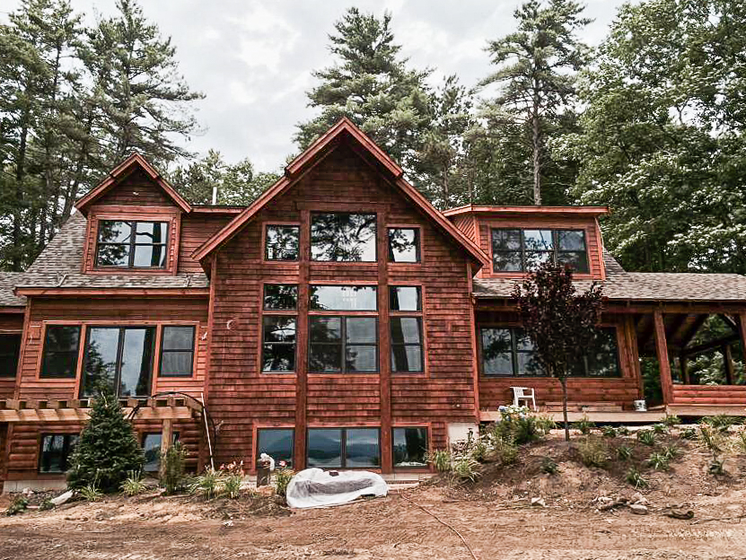 New Adirondack Waterfront Home On Lake Winnipesaukeelake
