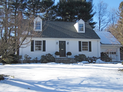 New real estate listing in wellesley dormered cape full for Dormered cape