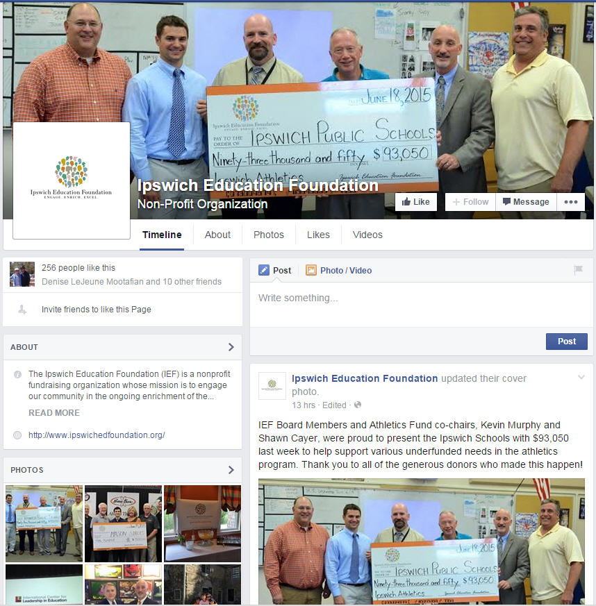 ipswich education foundation Shawn Cayer