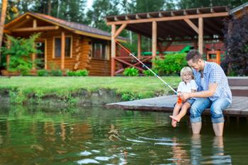 Fishing at Lakefront Homes