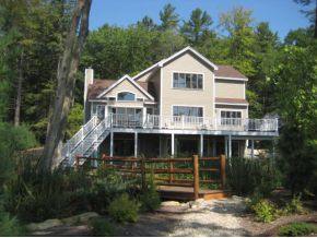 Lake Winnipesaukee Adirondack lake home in Moultonborough, NH Sandy Beach - View