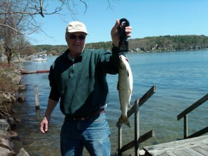 Salmon Fishing on Winnipesaukee