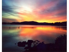 Squam Lake Real Estate - sunset - 603-729-0435 for information