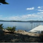 Level Lot with a great view and dock - 603-729-0435 for sale - lake wentworth NH