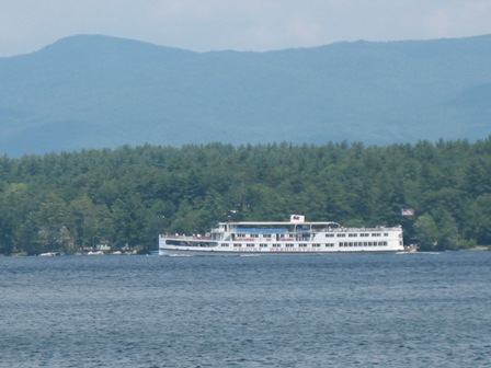 Mount Washington Crusing by one of the Meredtih homes