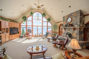 Lake Views and Fireplace are the focal Points of this Great Room copy