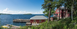 winnipesaukee compound with a boat house
