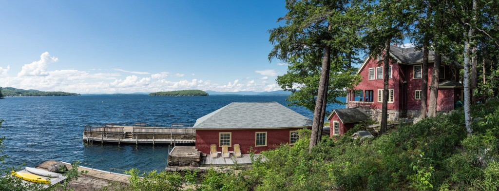 Boat House - 6 Acres - 700 feet of shoreline - $3.9 mil - 5 cottages & main residence