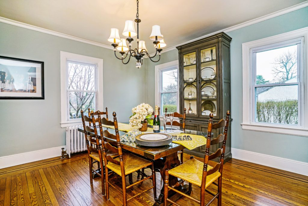 Help buyers imagine hosting a dinner party in their new dining room by setting out attractive place settings.