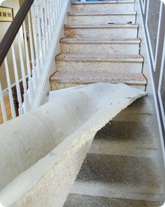 carpet coming off stairs
