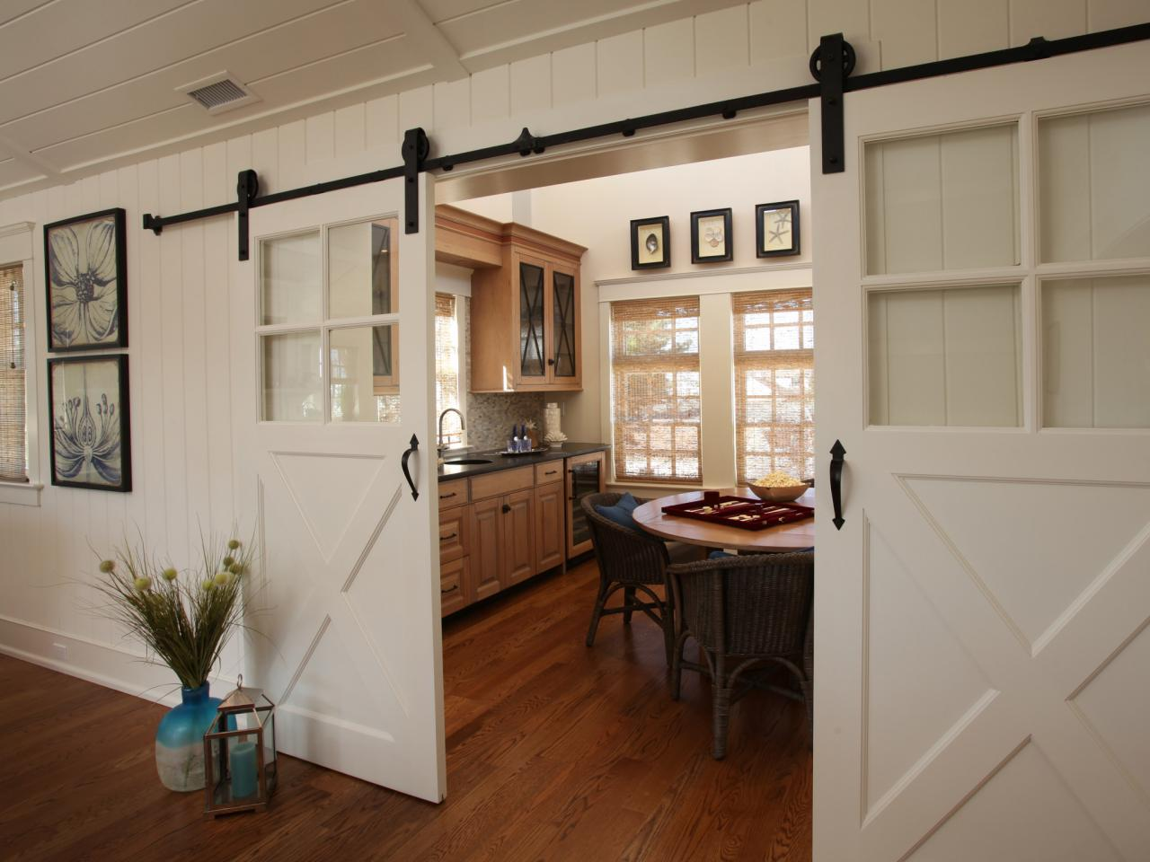 Dining Room with Barn Doors