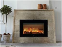 enclosed fireplace