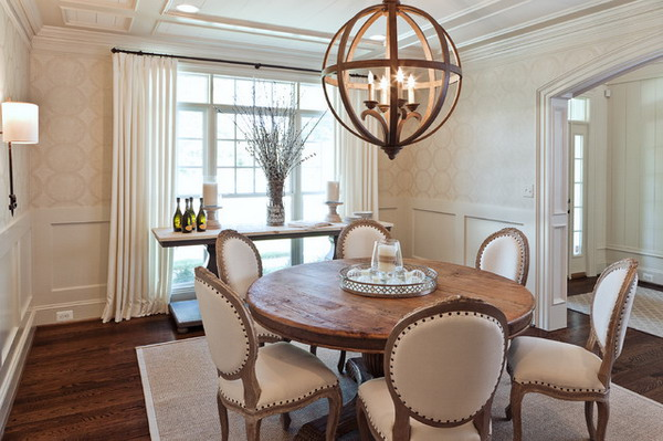Formal Dining Room with Round Table