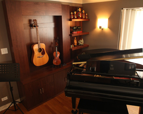 living room as music room