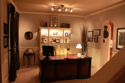 living room as office