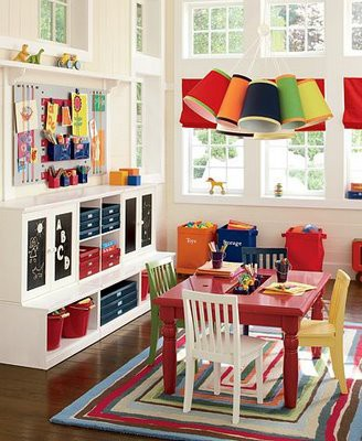 living room as playroom