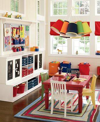 living room as playroom