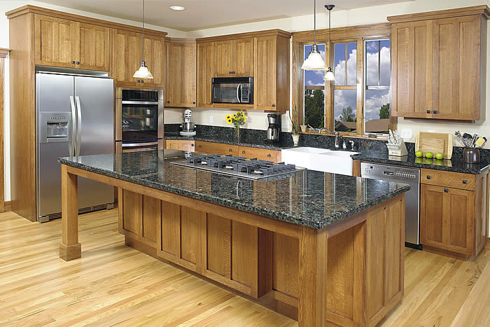 brown custom kitchen cabinets