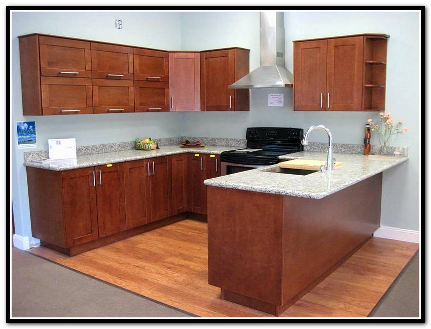 brown semi custom kitchen cabinets