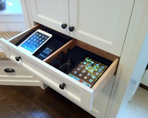 charging station in kitchen