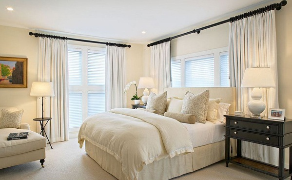 creamy master bedroom