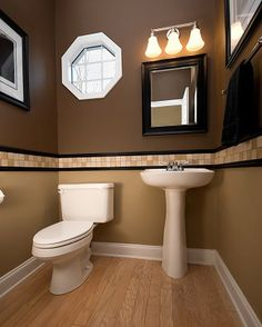 dark paint powder room