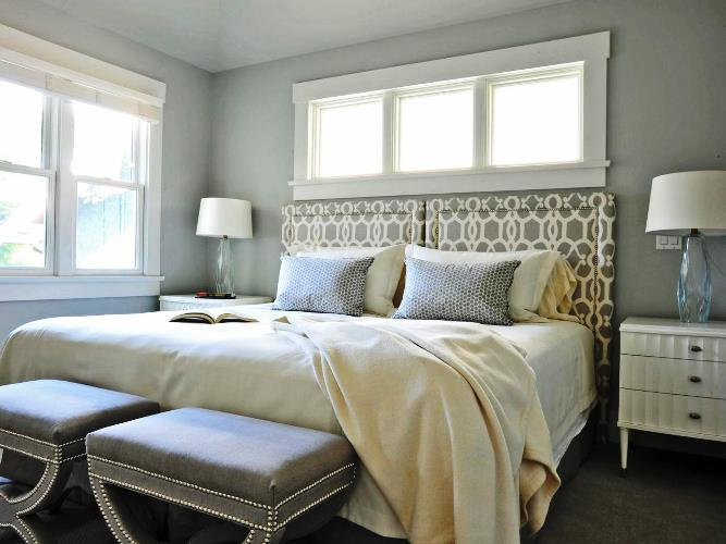 gray paint master bedroom