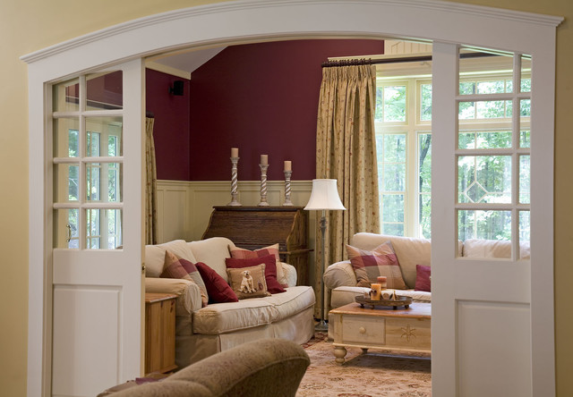 sliding doors in family room