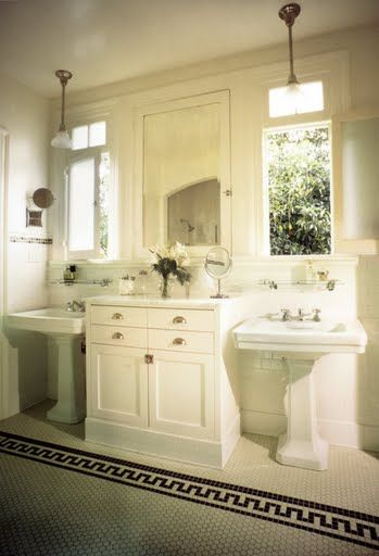 two pedestal sinks