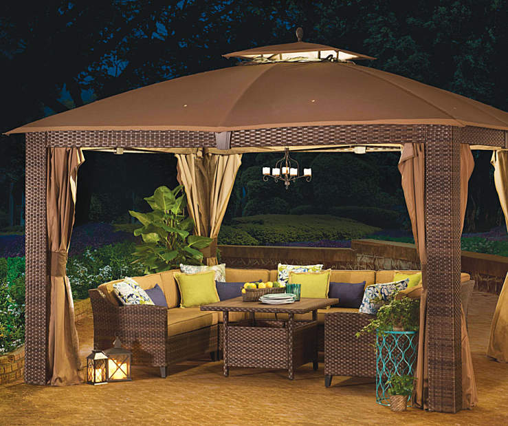 Wilson+&+Fisher+Sonoma+Gazebo+and+Modular+Patio+Seating+Collection