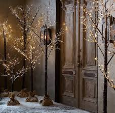 lighted entry trees
