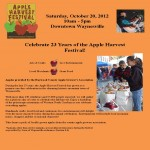 Click here for all the details of the Apple Harvest Festival