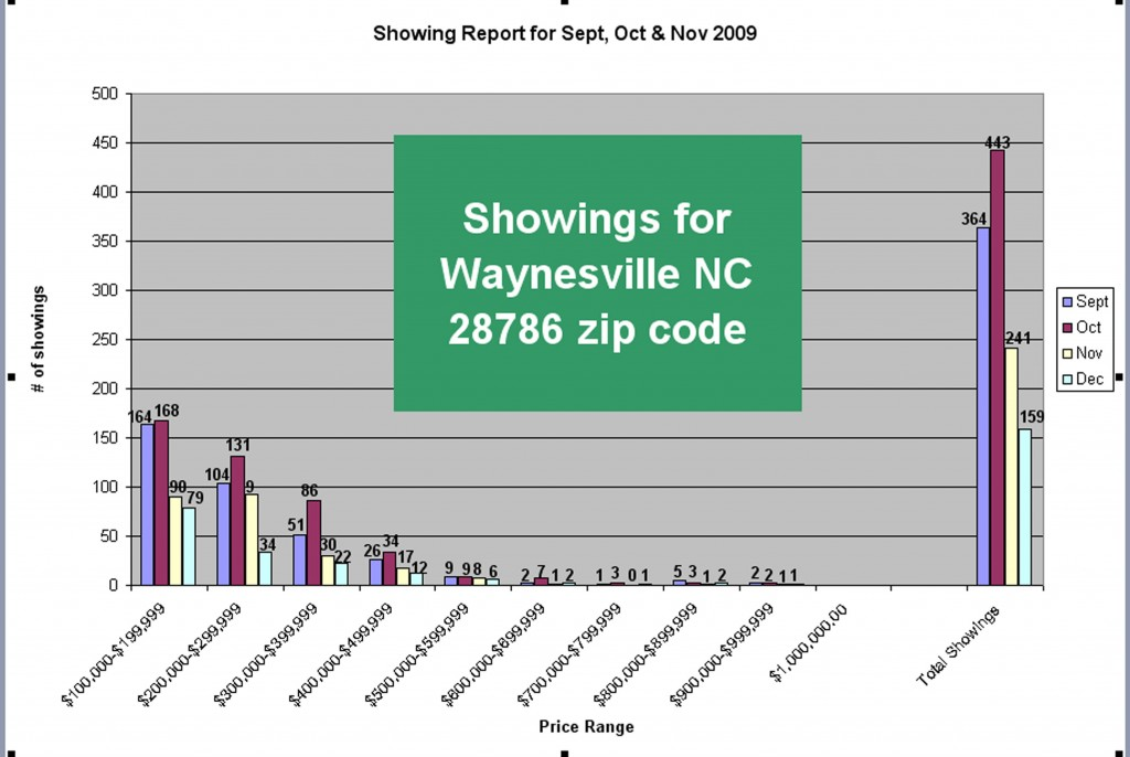 Waynesville NC Home Showing Report