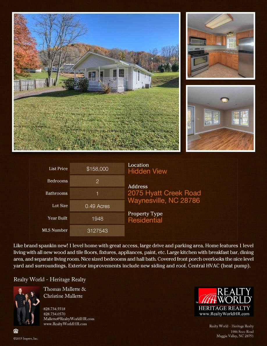 2075 Hyatt Creek Rd Listing Flyer