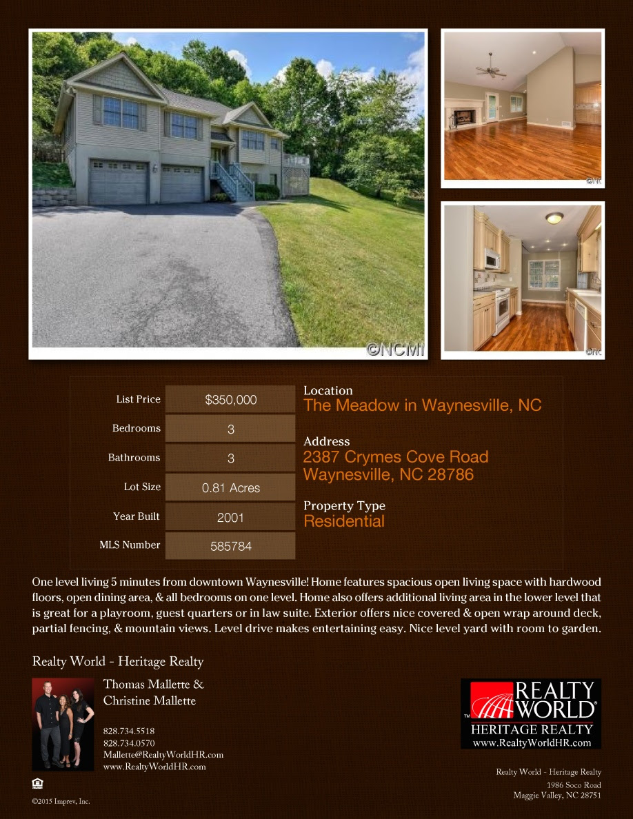 2387 Crymes Cove Rd Listing Flyer