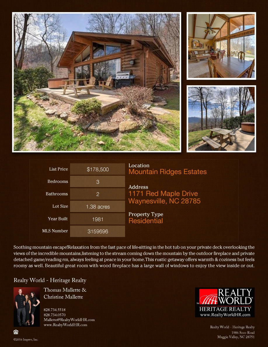 1171 Red Maple Listing Flyer