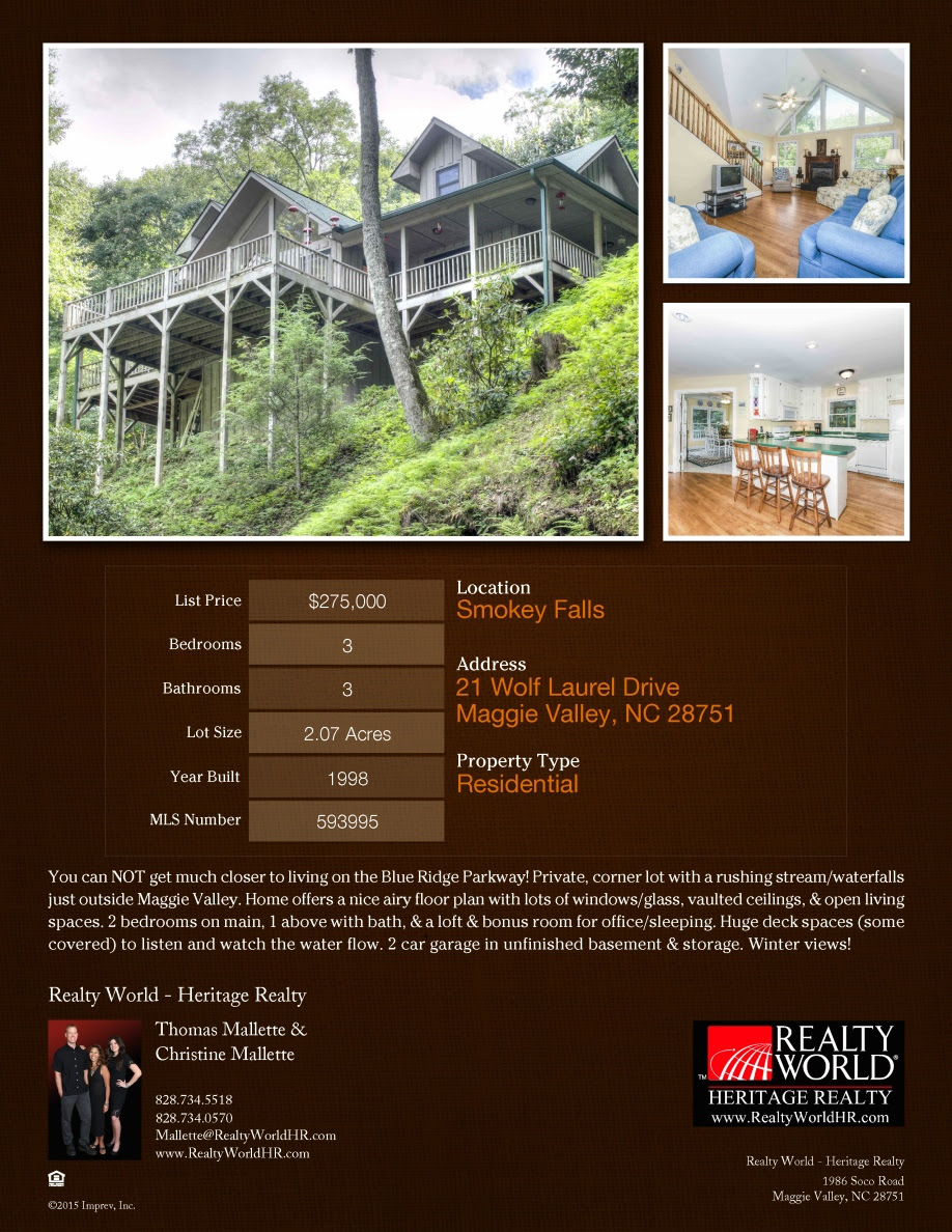 21 Wolf Laurel Dr Listing Flyer