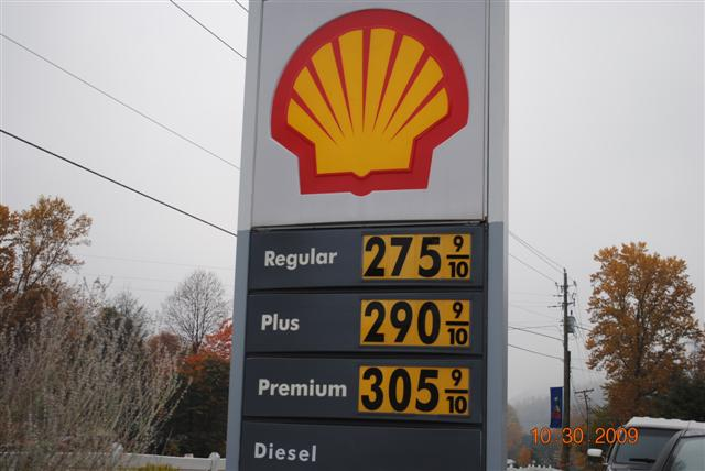 Shell gas price 10-30-09 006