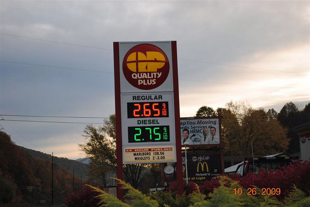 Quality Plus gas price 10-26-09 as of 8:15am