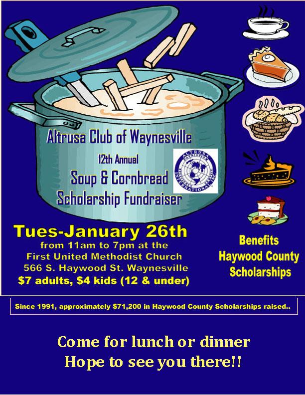 12th Annual Altrusa Soup & Cornbread Scholarship Fundraiser