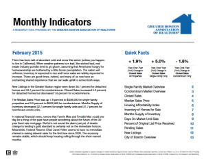 February 2015 Greater Boston Real Estate Market Trends