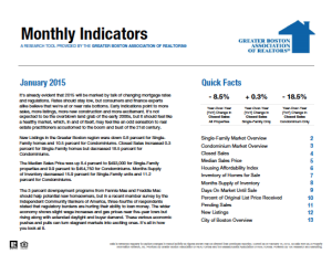 January 2015 Greater Boston Real Estate Market Trends Report