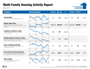 May 2014 Multi-family Housing Activity Report