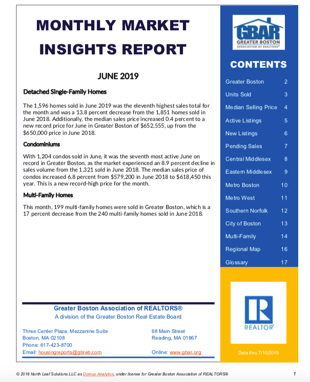 June 2019 Greater Boston Market Trends