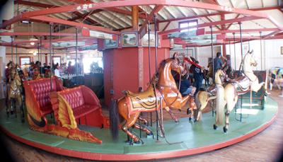 Flying Horses Carousel in Oak Bluffs